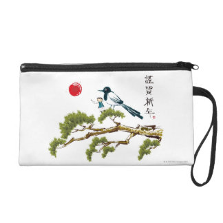 Boy and a Bird Wristlet