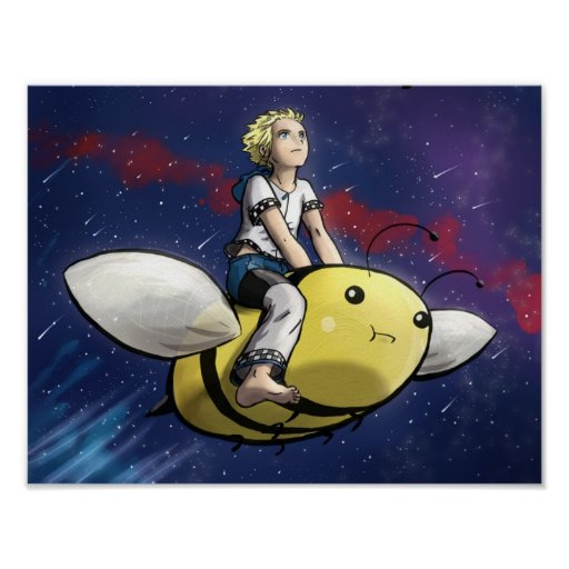 Boy and Bee Poster