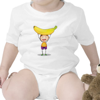boy and excercise baby bodysuits