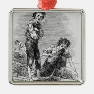 Boy and Girl at Cahera Christmas Ornament