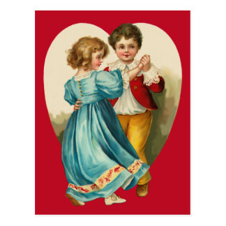 Boy and Girl Dancing Postcard