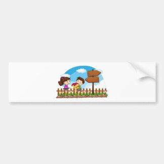 Boy and girl in love bumper sticker