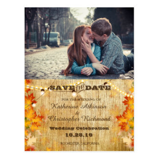 boy and girl kissing love in road city/fall theme postcard