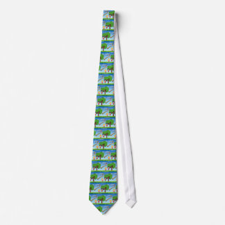 Boy and Girl on Lawn 3 Tie