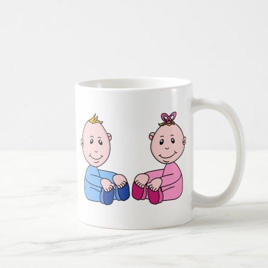 Boy And Girl Twins Coffee Mug