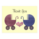 Boy and Girl Twins Greeting Cards Post Cards