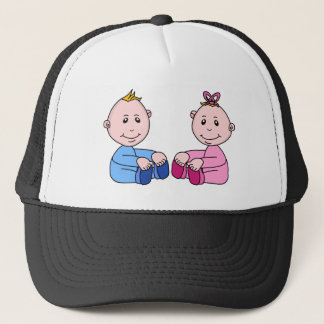Boy And Girl Twins Trucker Hat