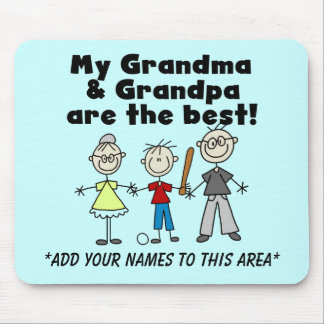 Boy and Grandparents Customizable Mousepad