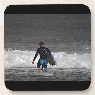 BOY AND HIS BOOGIE BOARD DRINK COASTERS