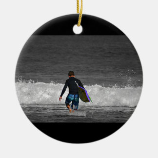 BOY AND HIS BOOGIE BOARD ORNAMENT