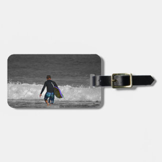 BOY AND HIS BOOGIE BOARD TRAVEL BAG TAGS