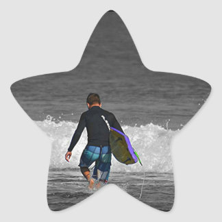 BOY AND HIS BOOGIE BOARD STAR STICKER