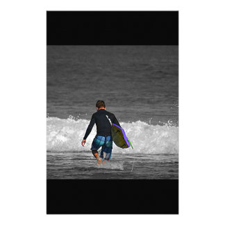 BOY AND HIS BOOGIE BOARD STATIONERY DESIGN