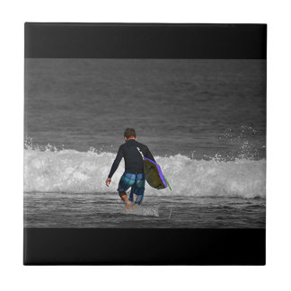 BOY AND HIS BOOGIE BOARD CERAMIC TILES