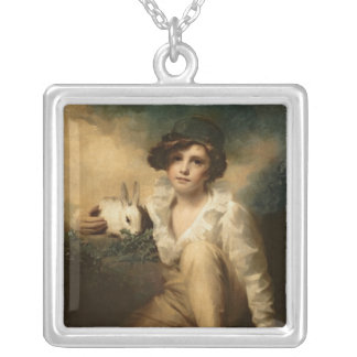 Boy and Rabbit, c.1814 Silver Plated Necklace