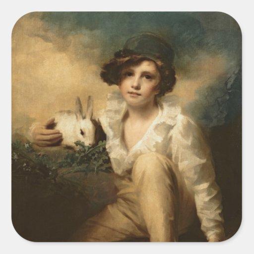 Boy and Rabbit, c.1814 Stickers