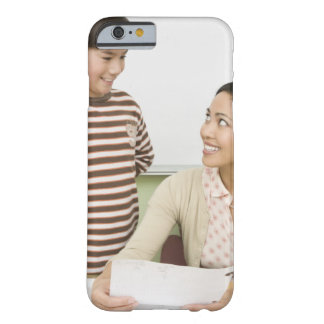 Boy and teacher at teachers desk barely there iPhone 6 case