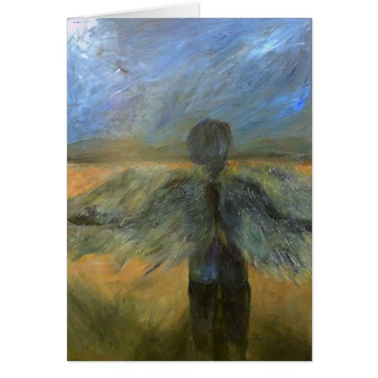 Boy Angel On Call Note Card