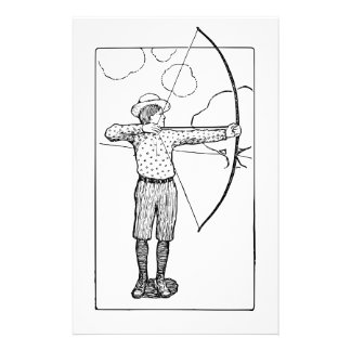 Boy Archer Illustration Stationery