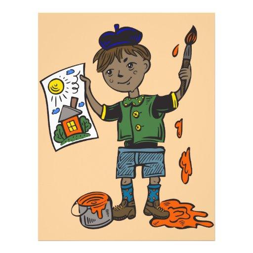 Boy Artist and Artwork Full Color Flyer