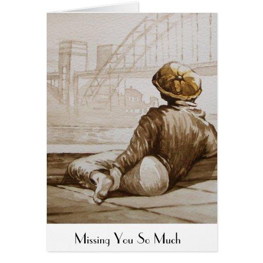 Boy at The Tyne Bridge Greeting Card