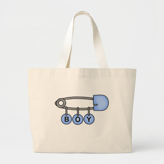 Boy Baby Pin Large Tote Bag