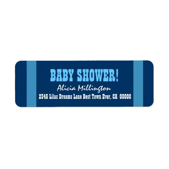 BOY Baby Shower Blue Stripes V004
