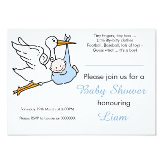 Boy Baby Shower Invitation