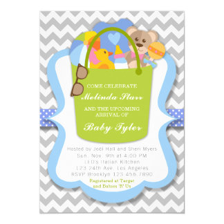 Boy Baby Shower Invitation - Baby Bucket of Things