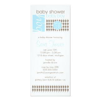 "Boy Baby Shower Invitation - Trendy 4"" X 9.25"" Invitation Card"