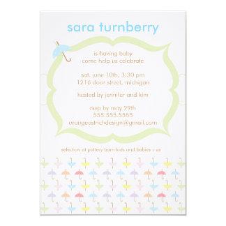 Boy Baby Shower Invitation - Umbrella