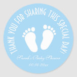 Boy baby shower party favour thank you stickers