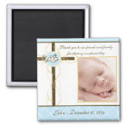 Boy Baptism/Christening Favour - Photo Magnet