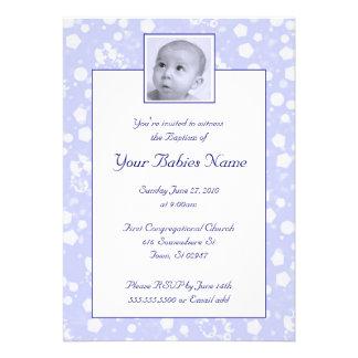 Boy Baptism Christening Custom Invite