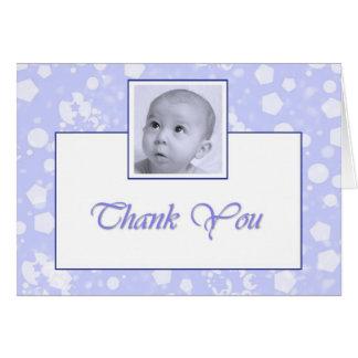 Boy Baptism Christening Thank you Greeting Cards