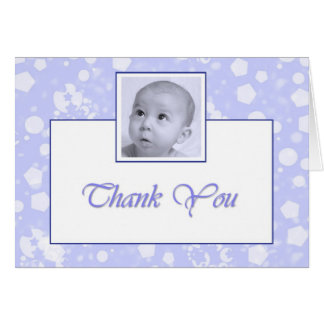 Boy Baptism Christening Thank you Greeting Cards