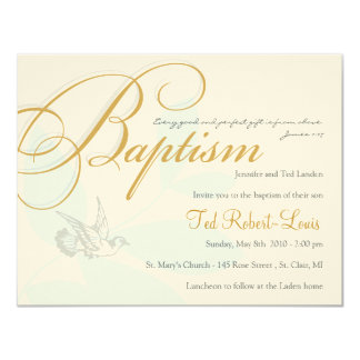 Boy Baptism Invitation