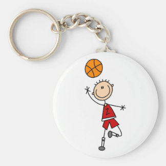 Boy Basketball Player Tshirts and Gifts Keychains