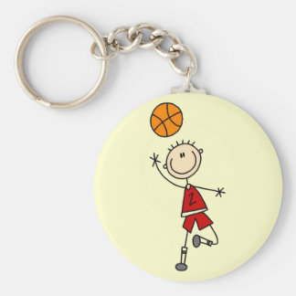 Boy Basketball Player Tshirts and Gifts Keychain