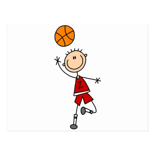 Boy Basketball Player Tshirts and Gifts Postcard