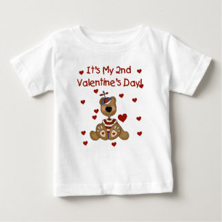 Boy Bear 2nd Valentine's Day Baby T-Shirt