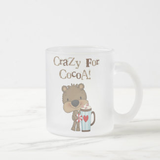 Boy Bear Crazy For Cocoa Holiday 10 Oz Frosted Glass Coffee Mug