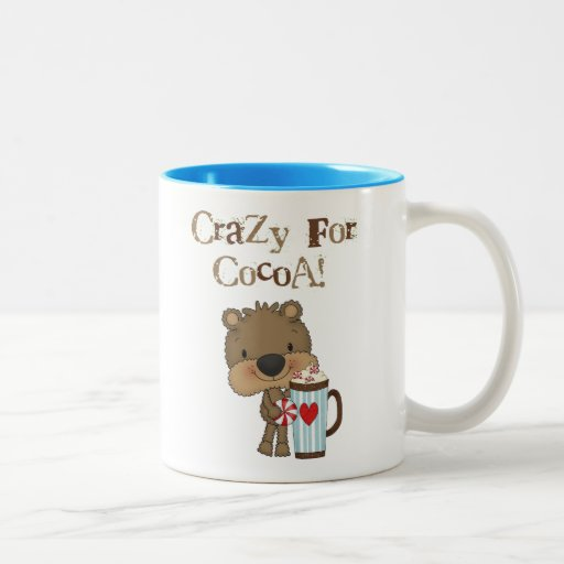Boy Bear Crazy For Cocoa Holiday Coffee Mugs