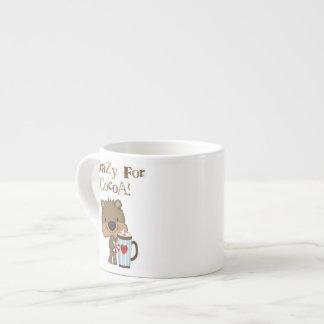 Boy Bear Crazy For Cocoa Holiday 6 Oz Ceramic Espresso Cup