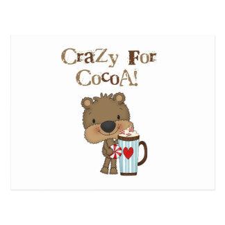 Boy Bear Crazy For Cocoa Holiday Postcard