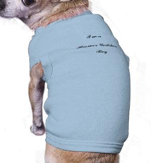 Boy, Biewer Yorkshire, Terrier Sleeveless Dog Shirt