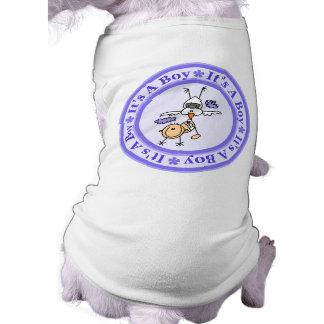 Boy Birth Announcement Sleeveless Dog Shirt