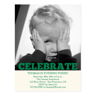 Boy Birthday Party Photo Invitations