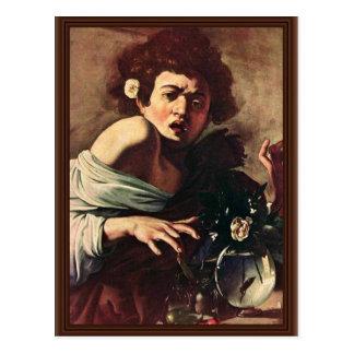 Boy Bitten By A Lizard By Michelangelo Merisi Da Postcard