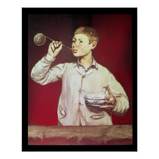 Boy Blowing Bubbles, 1867-69 Poster